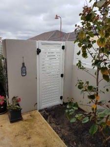 Aluminium Slat Gate Garden