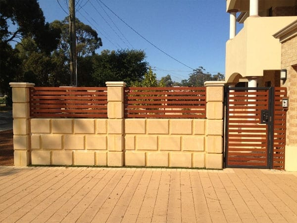 Aluminium Slatted Fencing Gates Perth Rockingham