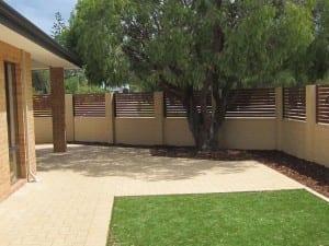 Aluminium Slat Fencing Outdoor Back