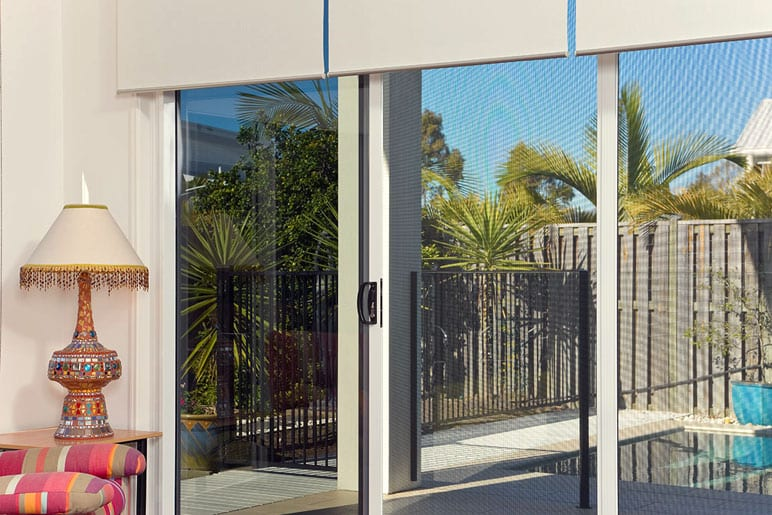 Secureview Sliding Security Screen Door – Pool View